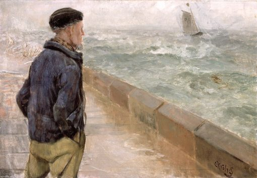 A French Sailor   Christian Krohg   Oil Painting