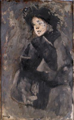 Sigrun   Christian Krohg   Oil Painting