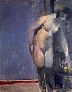 Model Resting   Christian Krohg   Oil Painting