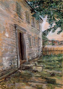 Old House in Brekkestø   Christian Krohg   Oil Painting