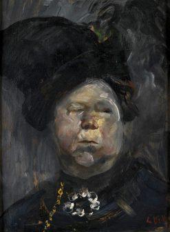 Mrs Blom   Christian Krohg   Oil Painting