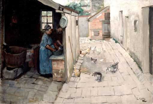 Farm Interior | Christian Krohg | Oil Painting
