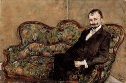 Sigurd Bødtker   Christian Krohg   Oil Painting