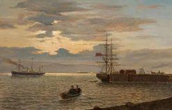 German Wharf in Bergen | Martin Aaraard | Oil Painting
