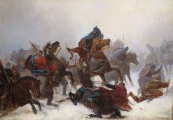 King Sverre's Escape | Peter Nicolai Arbo | Oil Painting