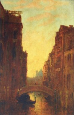 A Canal in Venice   Felix-Francois-Georges-Philbert Ziem   Oil Painting