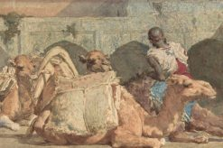 Camels Resting | Mariàno Fortuny y Marsal | Oil Painting