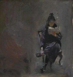 Reading Model   Christian Krohg   Oil Painting