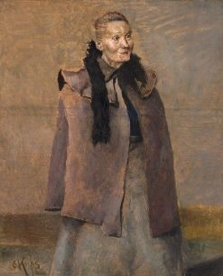 Portrait of a Woman   Christian Krohg   Oil Painting