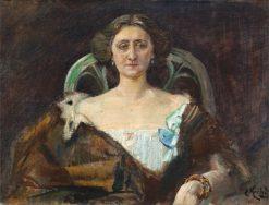 Portrait of Fru Baaronesse Rytzell   Christian Krohg   Oil Painting