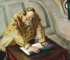 Reading the Chart   Christian Krohg   Oil Painting