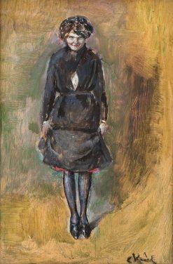 Standing Girl   Christian Krohg   Oil Painting