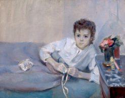 Sick Boy   Christian Krohg   Oil Painting