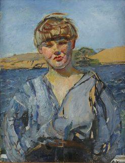 North Wind   Christian Krohg   Oil Painting