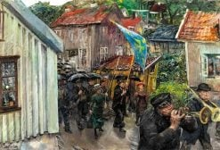 Procession of the Abstemious   Christian Krohg   Oil Painting