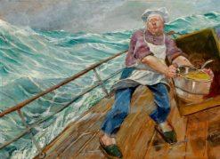 Stuertens arbeid   Christian Krohg   Oil Painting