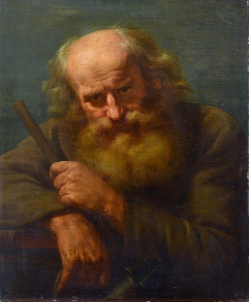 Bearded Man with a Staff and Lantern | Abraham Bloemaert | Oil Painting