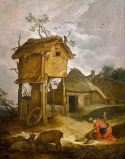 Farmyard with Dovecote | Abraham Bloemaert | Oil Painting