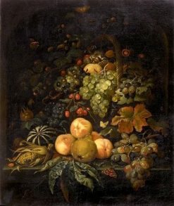 Fruit Still Life in a Niche | Abraham Mignon | Oil Painting