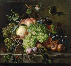 Fruit Still Life with Grapes