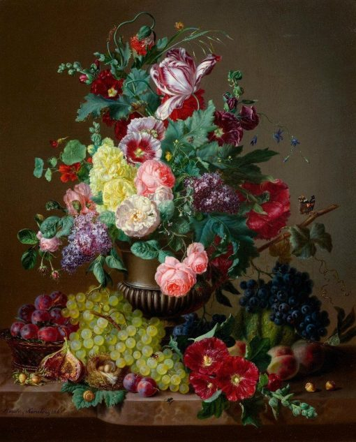 Still Life of Flowers | Amalie Kaercher | Oil Painting