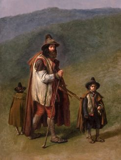 A Shepherd from the Campagna Romana and His Children | Eugene Verboeckhoven | Oil Painting