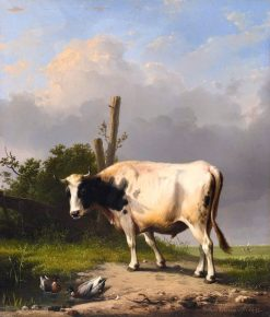 A Cow in a Wide Landscape | Eugene Verboeckhoven | Oil Painting