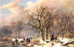 A Frozen Winter Landscape | Eugene Verboeckhoven | Oil Painting