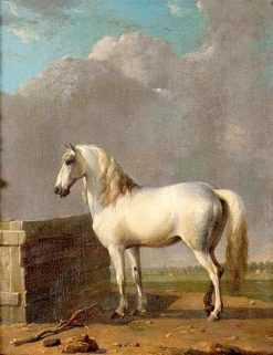 A White Horse in a Landscape | Eugene Verboeckhoven | Oil Painting
