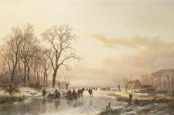 A Frozen Canal near the River Maas