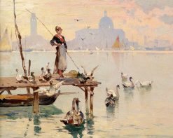In the Venice Lagoon | Franz Richard Unterberger | Oil Painting
