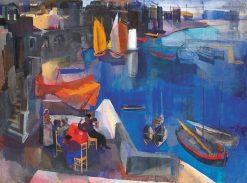Harbor | Vilmos Aba-Novák | Oil Painting