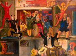 Cabaret Scene | Vilmos Aba-Novák | Oil Painting
