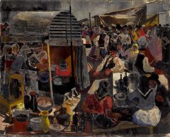 At the Market | Vilmos Aba-Novák | Oil Painting