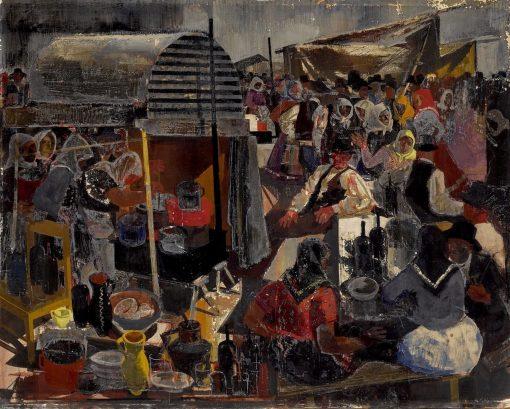 At the Market | Vilmos Aba-Novák | Oil Painting