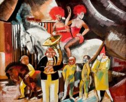 The World of Circus | Vilmos Aba-Novák | Oil Painting