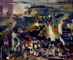 Landscape with Figures | Vilmos Aba-Novák | Oil Painting