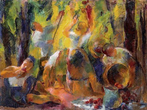 Apple Harvest | Vilmos Aba-Novák | Oil Painting