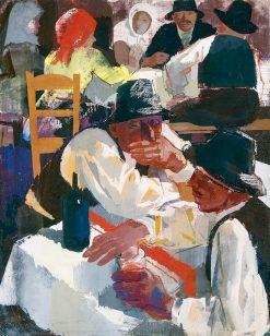 Drinkers | Vilmos Aba-Novák | Oil Painting