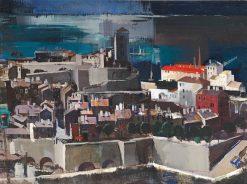 Mediterranean Harbor | Vilmos Aba-Novák | Oil Painting