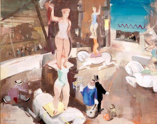 Circus Scene | Vilmos Aba-Novák | Oil Painting