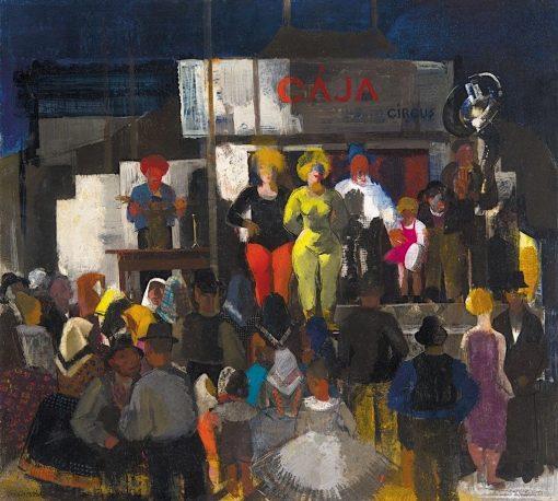 Circus | Vilmos Aba-Novák | Oil Painting