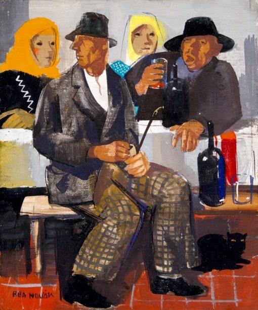 Company | Vilmos Aba-Novák | Oil Painting