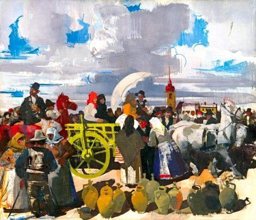 Market Scene | Vilmos Aba-Novák | Oil Painting