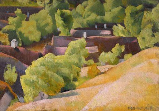 In the Hills of Buda | Vilmos Aba-Novák | Oil Painting