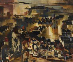 Flood   Vilmos Aba-Novák   Oil Painting