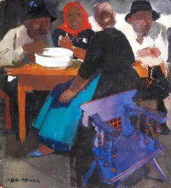 Peasants | Vilmos Aba-Novák | Oil Painting