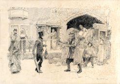 Street Scene | Edwin Austin Abbey | Oil Painting