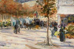 Boulevard in Paris | Louis Abel-Truchet | Oil Painting