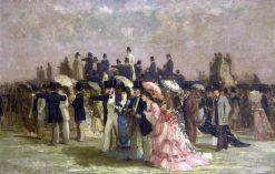 Elegant Women at the Races | Louis Abel-Truchet | Oil Painting
